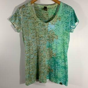 PRANA . Short sleeve Burnout Shirt . M